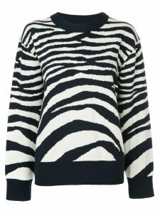 Sykes zebra striped jumper - Blue