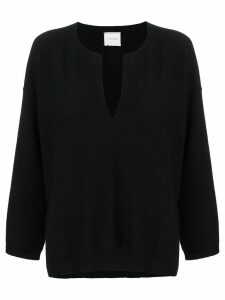 Fine Edge v-neck sweater - Black