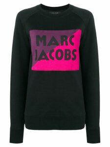 MARC JACOBS logo colour-block sweater - Black