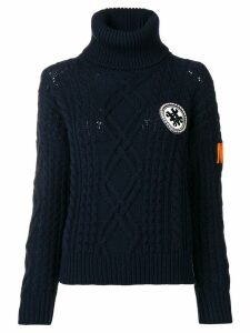 Mr & Mrs Italy logo roll-neck sweater - Blue