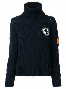 Mr & Mrs Italy logo roll-neck sweater - Blue