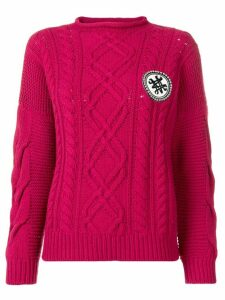 Mr & Mrs Italy logo cable-knit sweater - Pink