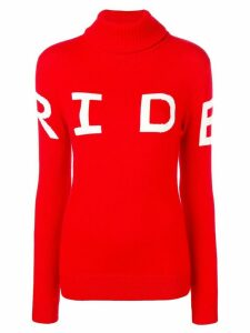 Perfect Moment Ride intarsia knit jumper - Red