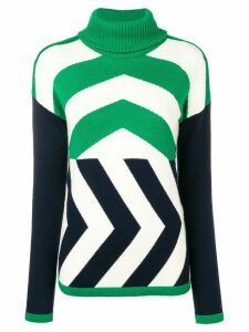Perfect Moment Chevron jumper - Green