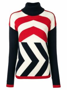 Perfect Moment Chevron jumper - Red