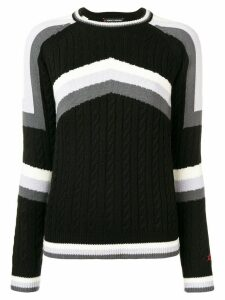 Perfect Moment Tignes cable knit jumper - Black
