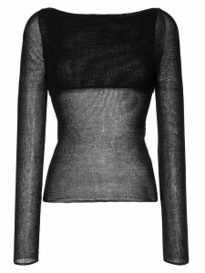 Dion Lee crepe knit sweater - Black