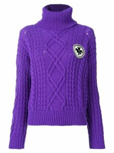 Mr & Mrs Italy logo roll-neck sweater - PURPLE
