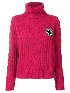 Mr & Mrs Italy logo roll-neck sweater - Pink
