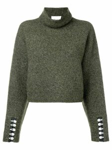 3.1 Phillip Lim cropped turtleneck pullover - Green