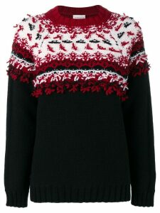 Moncler chunky knit sweater - Black