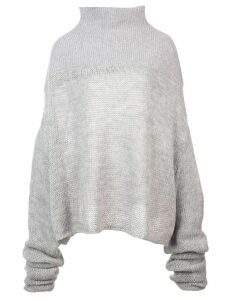 Unravel mesh knit sweater - Grey
