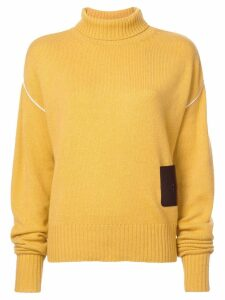 Rochas oversized turtleneck jumper - Yellow