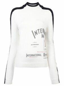 Monse contrast stripe jumper - White/Black