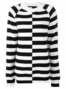 Haider Ackermann oversized striped sweater - Black