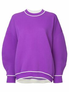 Tibi structured sleeve jumper - Purple