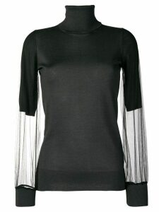 Fabiana Filippi sheer sleeves sweater - Grey