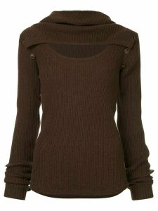 Muller Of Yoshiokubo long-sleeve fitted sweater - Brown