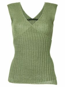 Muller Of Yoshiokubo Trail ribbon knit top - Green