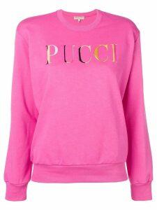 Emilio Pucci Logo Print Jersey Sweatshirt - PINK