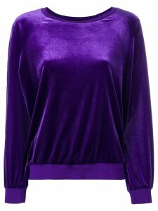Alexandre Vauthier crew neck sweatshirt - PURPLE