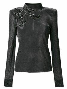 Christopher Kane glitter knit top - Grey