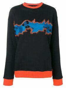 Versus embroidered sweatshirt - Black