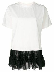 Mm6 Maison Margiela tulle hem T-shirt - White
