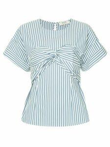 Sea Riviera striped corset T-shirt - White