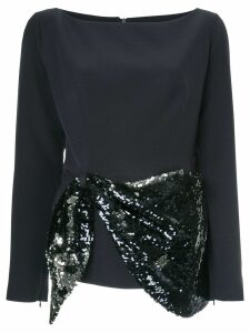 Safiyaa London sequin embellished blouse - Blue