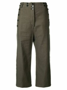 Ann Demeulemeester cropped trousers - Green
