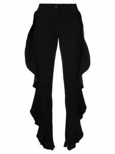 Strateas Carlucci ruffled trousers - Black