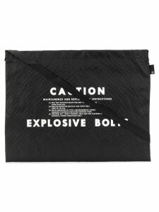 Undercover Caution shoulder bag - Black