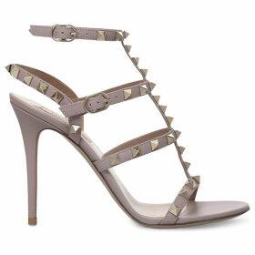 Valentino Rockstud studded leather sandals, Women's, Size: EUR 40 / 7 UK WOMEN, Nude