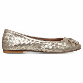 Carvela Luggage metallic-leather ballet flats, Women's, Size: EUR 41 / 8 UK WOMEN, Gold