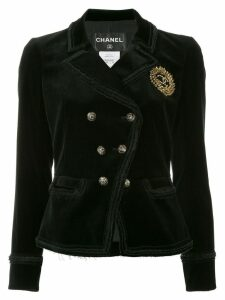 Chanel Pre-Owned double breasted jacket - Black