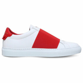 Knot elastic leather trainers