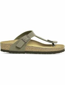 Birkenstock Faux-leather thong sandals, Women's, Size: 3, Stone