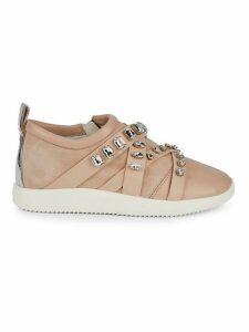 Crystal Embellished Slip-On Sneakers