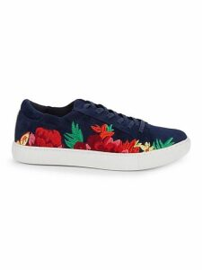 Kam Floral Embroidered Sneakers