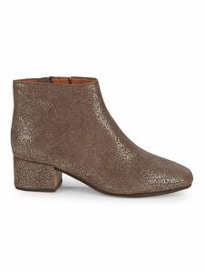 Laina Sparkle Suede Booties