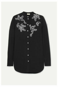 By Malene Birger - Sabara Embellished Crepe Blouse - Black