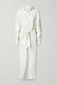 RtA - Emmet Distressed Ribbed Lurex And Cotton Sweater - Silver