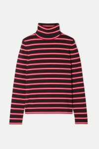 Moncler Genius - + 3 Moncler Grenoble Striped Stretch Wool-blend Turtleneck Top - Red