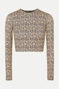 Matteau - Sun Tee Printed Cropped Rash Guard - Neutral