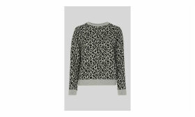 Cheetah Flocked Sweatshirt