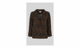 Cheetah Print Pyjama Shirt