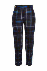 Versace Plaid Wool Pants