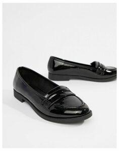 ASOS DESIGN Minny flat Shoes-Black
