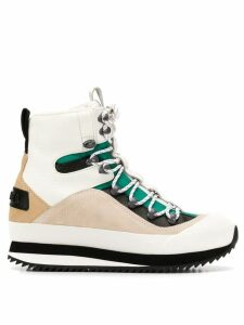 Diesel lace-up snow boots - White